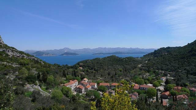 vesnička, moře, ostrovy