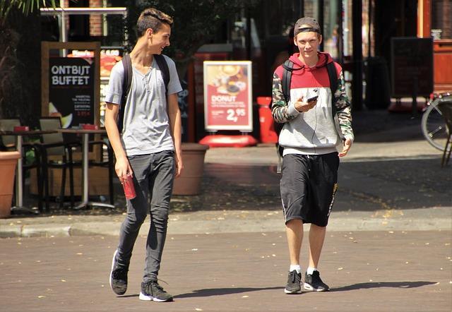 procházka chlapců
