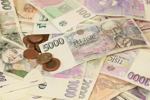 české koruny peníze