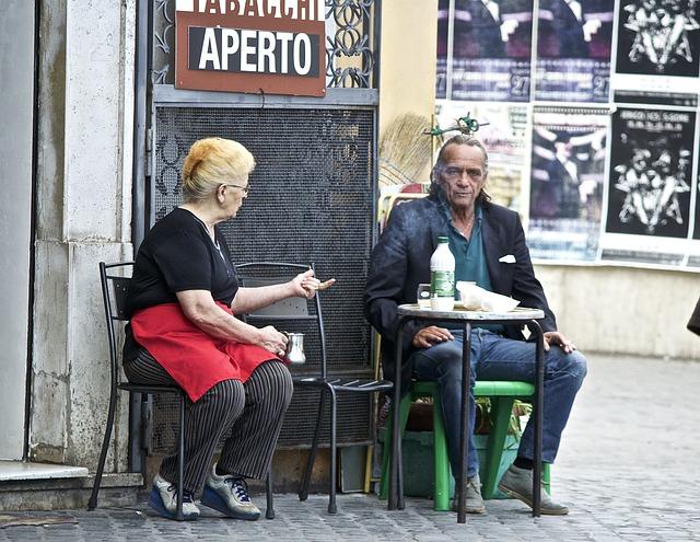 Spolu v kavárně